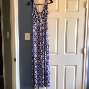 Stitched maxi dress